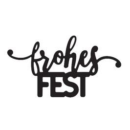 """Vaessen Creative by Mundart Stempel-Stanzform """"frohes Fest"""""""