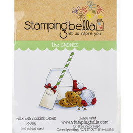 Stamping Bella-Cling Stamp/Milk & Cookies Gnome