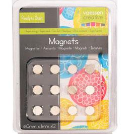 Vaessen Creative Magneten/Superstrong 10mm Ø 12 Stück