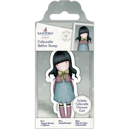 Gorjuss-Collectable Mini Rubber Stamp No.52/Waiting
