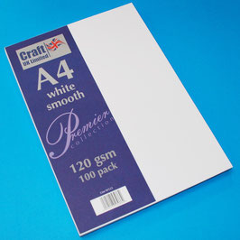 Craft UK-Premier Collection/White Smooth A4