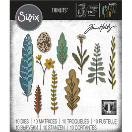Sizzix by Tim Holtz Thinlits-Stanzform/Funky Nature