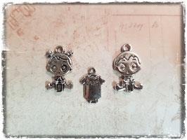 Metall Charms-Baby Silber-1/202