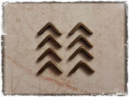 Buchecken - Vintage Bronce - klein 1 - 8 Stück - 304