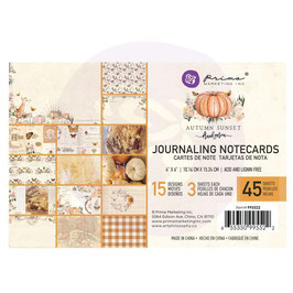 Prima Marketing-Autumn Sunset/Journaling Notecards 4x6""