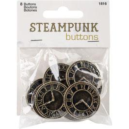 Blumenthal-Steampunk Buttons/Antique Gold Clock