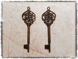 Metall Charms-Schlüssel Bronce-163