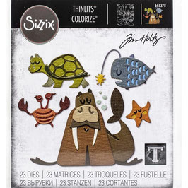 Sizzix Thinlits by Tim Holtz-Stanzform/Under The Sea #2 Colorize