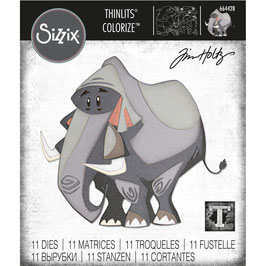 Sizzix by Tim Holtz Thinlits-Stanzform/Clarence Colorize