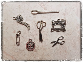 Metall Charms-Nähen Silber-247