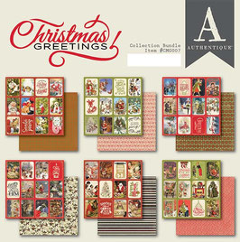 Authentique-Paper Pad/Christmas Greetings 6x6""