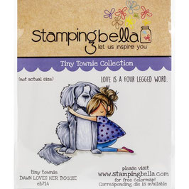 Stamping Bella-Cling Stamp/Tiny Townie Dawn Loves Her Doggie