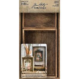 Idea-Ology by Tim Holtz/Vignette Set-2 Boxes 1 Tray