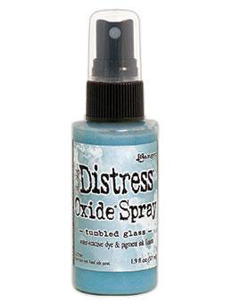 Distress Oxide Spray-tumbled glass
