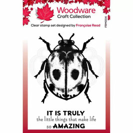 Woodware-Stempel/Little ladybird
