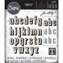 Sizzix by Tim Holtz Thinlits-Stanzform/Alphanumeric Shadow Lower