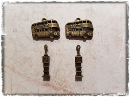 Metall Charms-London Bronce-112-1