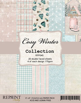 """Reprint-Cosy Winter Collection 6x6"""""""