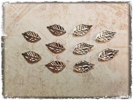 Metall Charms-Blätter Silber-Klein 1/203
