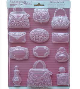 Stamperia-Soft Maxi Mould/Perfumery A4