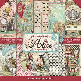 "Stamperia-Paper Pad Alice 12x12"""