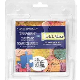 "Gel Press-Gel Plate Puzzle Piece 4x4"""