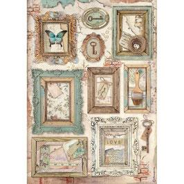 Stamperia Reispapier A4-Atelier Des Arts DFSA4548