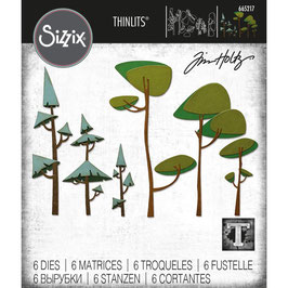 Sizzix by Tim Holtz Thinlits-Stanzform/Funky Trees