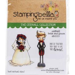 Stamping Bella-Cling Stamp/Oddball Bride & Groom