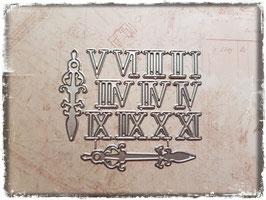 Stanzform-Uhr Römische Zahlen 2009