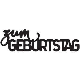 """Vaessen Creative by Mundart Stempel-Stanzform """"zum Geburtstag"""""""