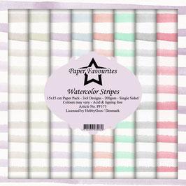 "Paper Favourites-Watercolor Stripes 6x6"""
