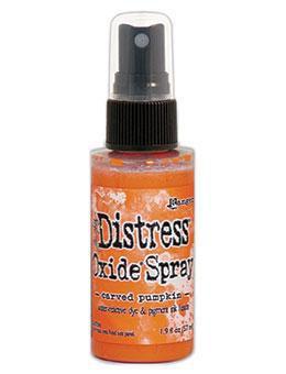 Distress Oxide Spray-carved pumpkin