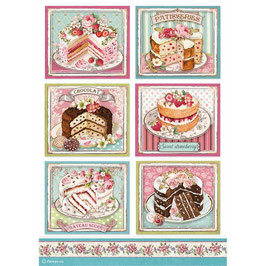 Stamperia Reispapier A4-Sweety DFSA4500
