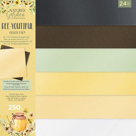 """Crafter's Companion Paper Pad-Luxury Pearlescent Pad/Bee-Youtiful Collection 12x12"""""""