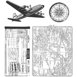 Tim Holtz Stempel Set-Air Travel
