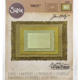 Sizzix by Tim Holtz Thinlits-Stanzform/Stacked Deckle