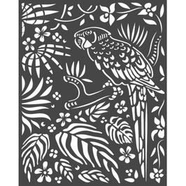 Stamperia-Stencil/Amazonia-Parrot KSTD067