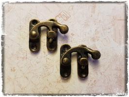 Verschluss mit Hacken - Vintage Bronce - 2 Paare - Mittel - 310