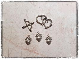 Vintage Metall Charms-silber/Liebe