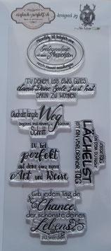 einfach-perfekt-Clear Stamps/Sprüche Kollektion #001