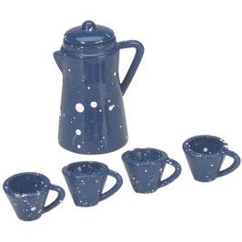 Darice-Timeless Miniatures/Coffee Pot Set W/Cups 5 Stück