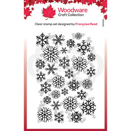 Woodware Stempel-Snowflake flurry