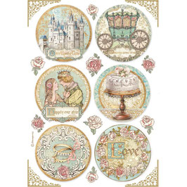 Stamperia Reispapier A4-Sleeping Beauty DFSA4576