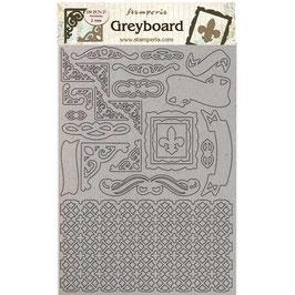 Stamperia Greyboard-Karton Stanzteile/Sleeping Beauty LSPDA432