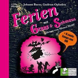 FERIEN MIT GRAUS & SCHMAUS Johann Barsy, Gudrun Opladen 4 CD PROFILE DIGI PAC mit 8-seitigem Booklet / Hörspiel
