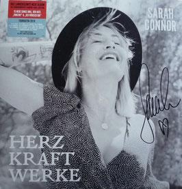 SARAH CONNOR Herz Kraft Werke ROTE DOPPEL VINYL LP, Ltd. Edition, handsigniert