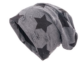 Jersey Beanie Distressed Stern Charcoal