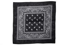Mundschutz 3er Pack Bandana Tücher Halstuch Kopftuch 100% Baumwolle schwarz