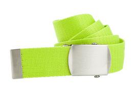 Neongrüner Bandgürtel 4cm Längen 80cm bis 200cm